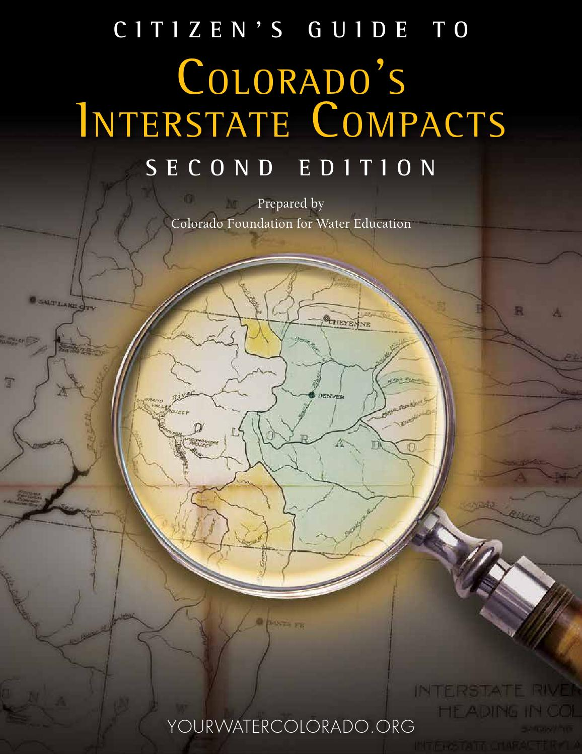 Citizens Guide To Colorados Interstate Compacts Second Edition By