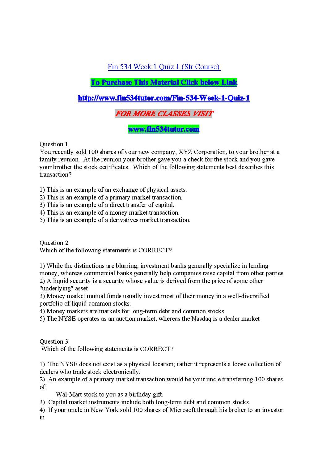 primary market transaction example