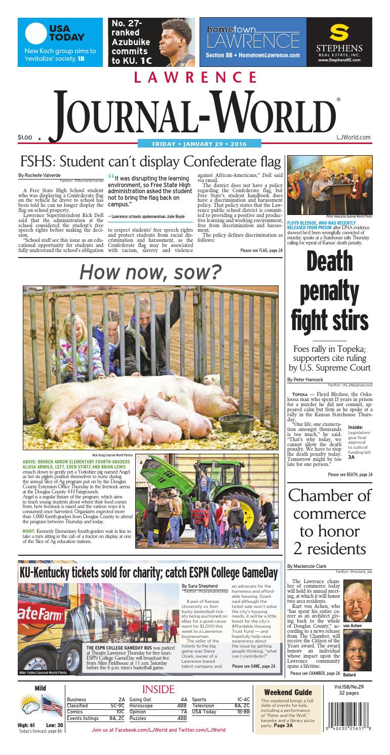 Lawrence Journal-World 01-29-2016 by Lawrence Journal-World