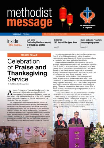 Methodist message february 2016 issue by methodist message issuu vol 118 no 2 feb 2016 fandeluxe Images