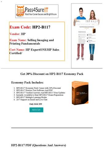 4f6e7b1d2aa88 Pass4Sure HP2-B117 Exam Questions