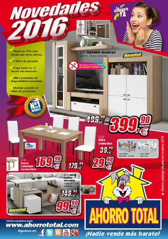 Ahorro total novedades 2016 by ahorro total muebles issuu for Muebles ahorro total catalogo