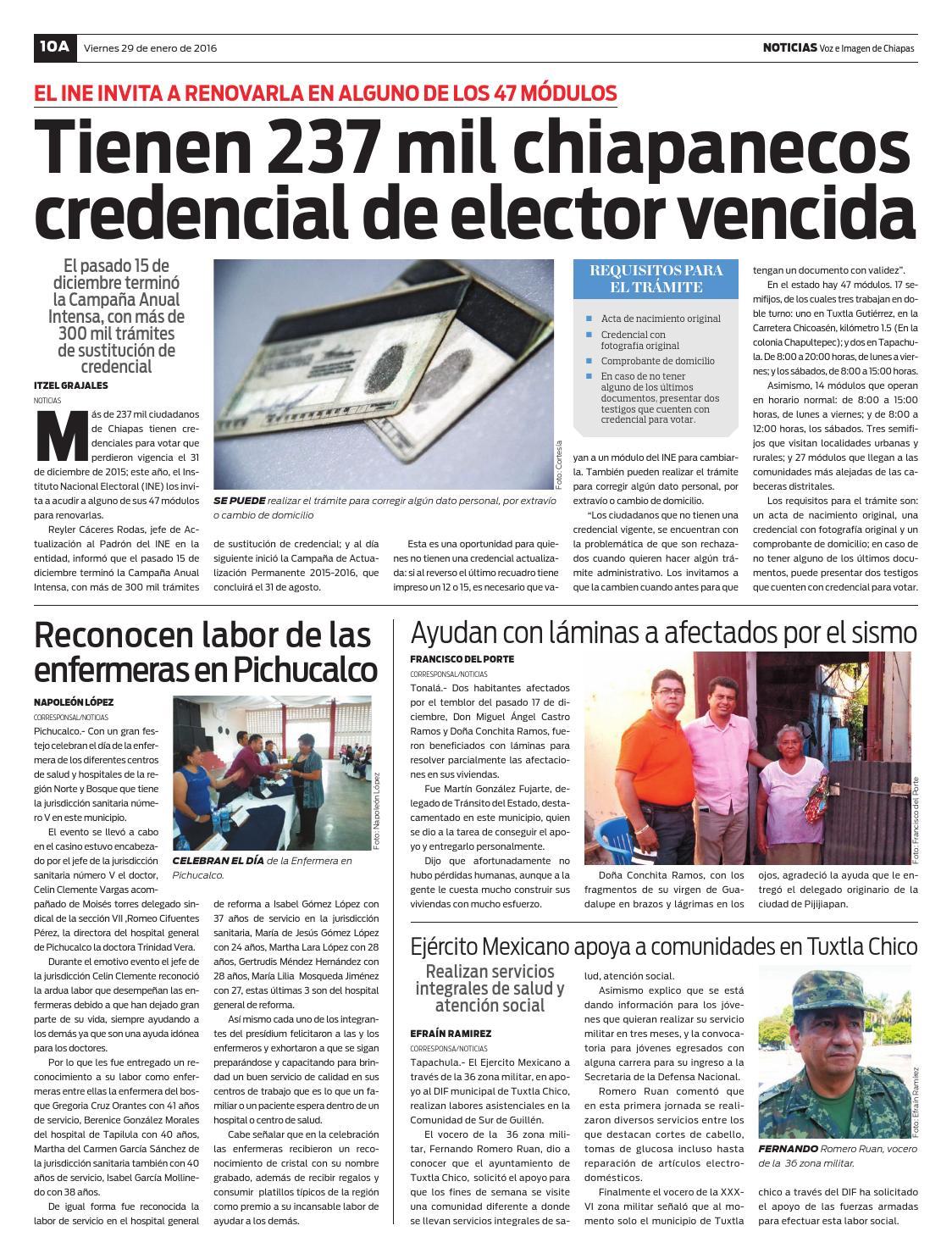 Noticias Voz E Imagen De Chiapas Edición 29 De Enero De 2016