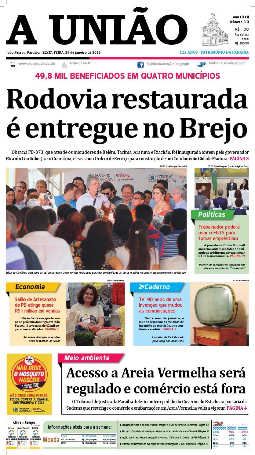 f328e92701 Jornal A União 29 01 16 by Jornal A União - issuu