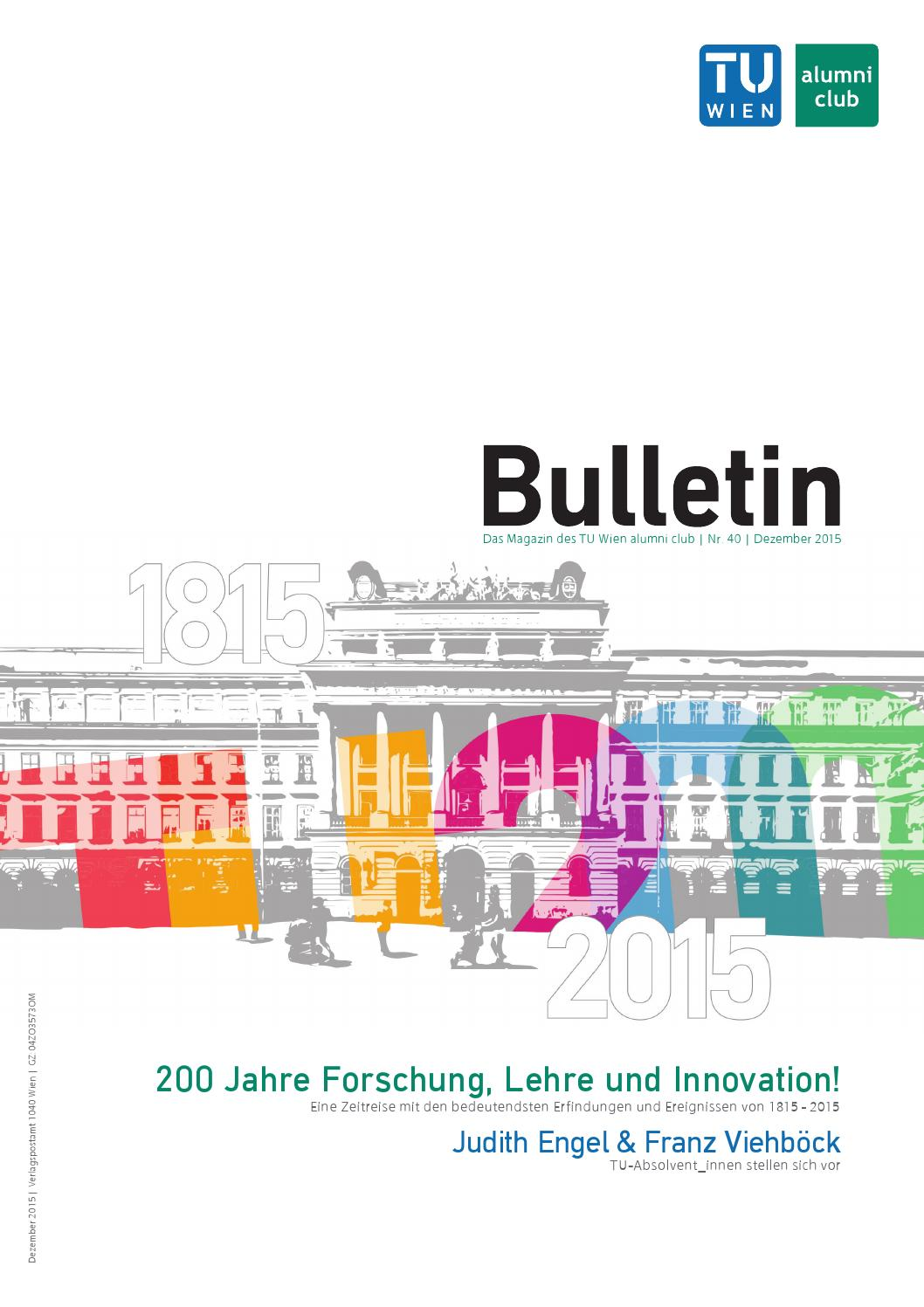 TU Wien alumni club Bulletin 40 by TU Wien alumni club - issuu