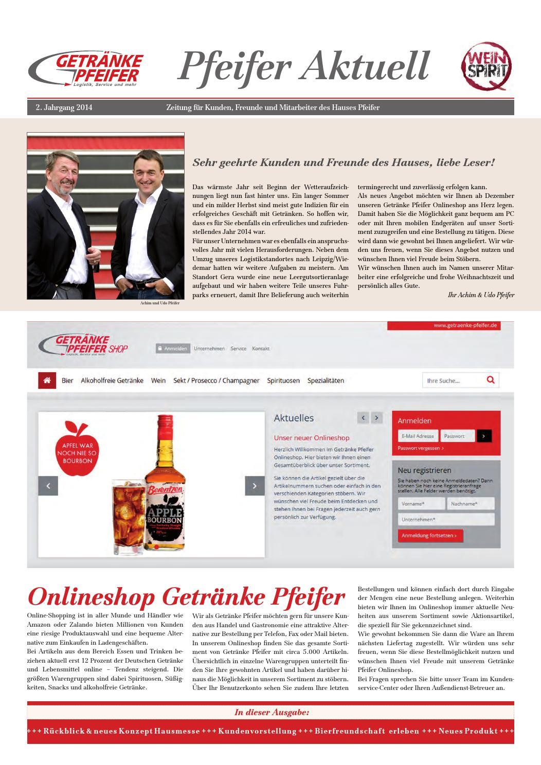 Getränke Pfeifer aktuell 2/14 by Getränke Pfeifer GmbH - issuu
