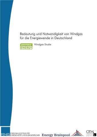Windgas-Studie (2015) by Greenpeace Energy eG - issuu