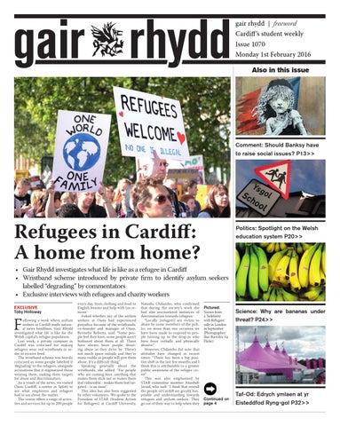 Gair Rhydd 1070 1st February 2016 By Cardiff Student Media Issuu