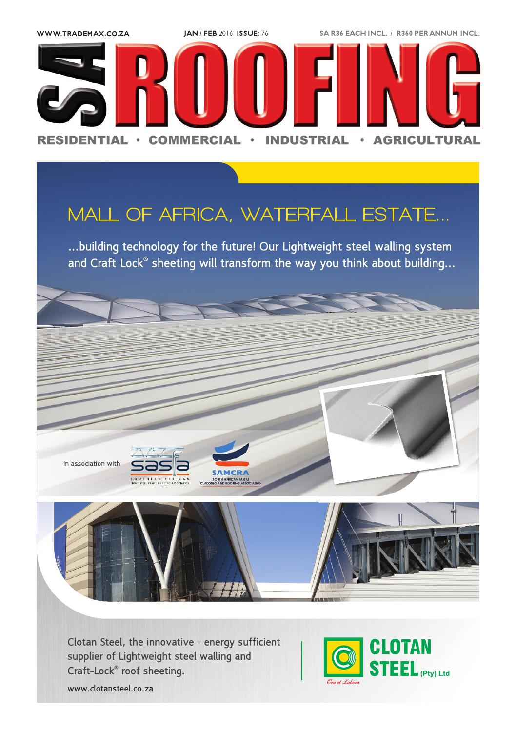 Sa roofing jan feb 2016 issue 76 by trademax publications issuu