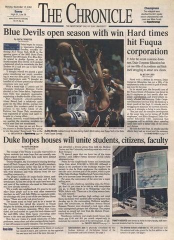 November 12, 2001 by Duke Chronicle Print Archives - issuu 31968a91bf