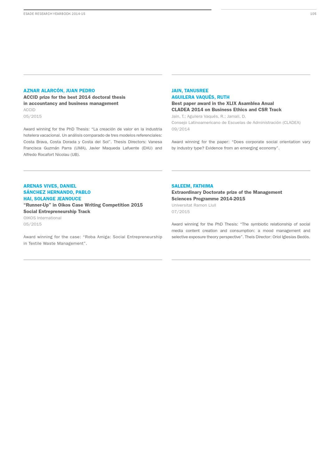 Research yearbook 2014 2015 by ESADE - issuu