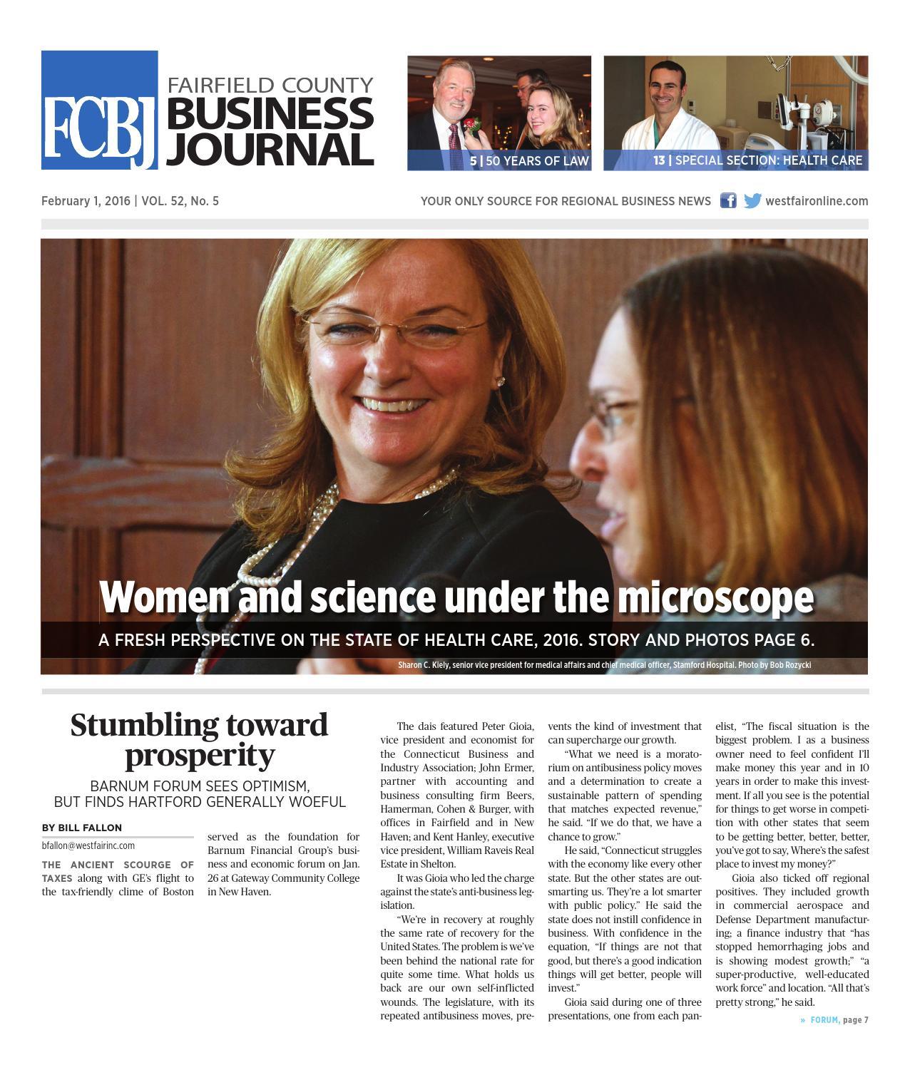 Fairfield County Business Journal 020116 By Wag Magazine Issuu