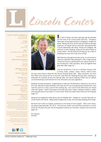 77a3e83628c February 2016 - Lincoln Center Chronicle by Lincoln Center - issuu