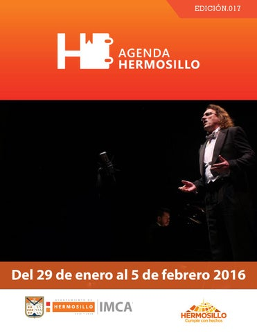 "Cover of ""Agenda Hermosillo del 22 al 29 de enero"""