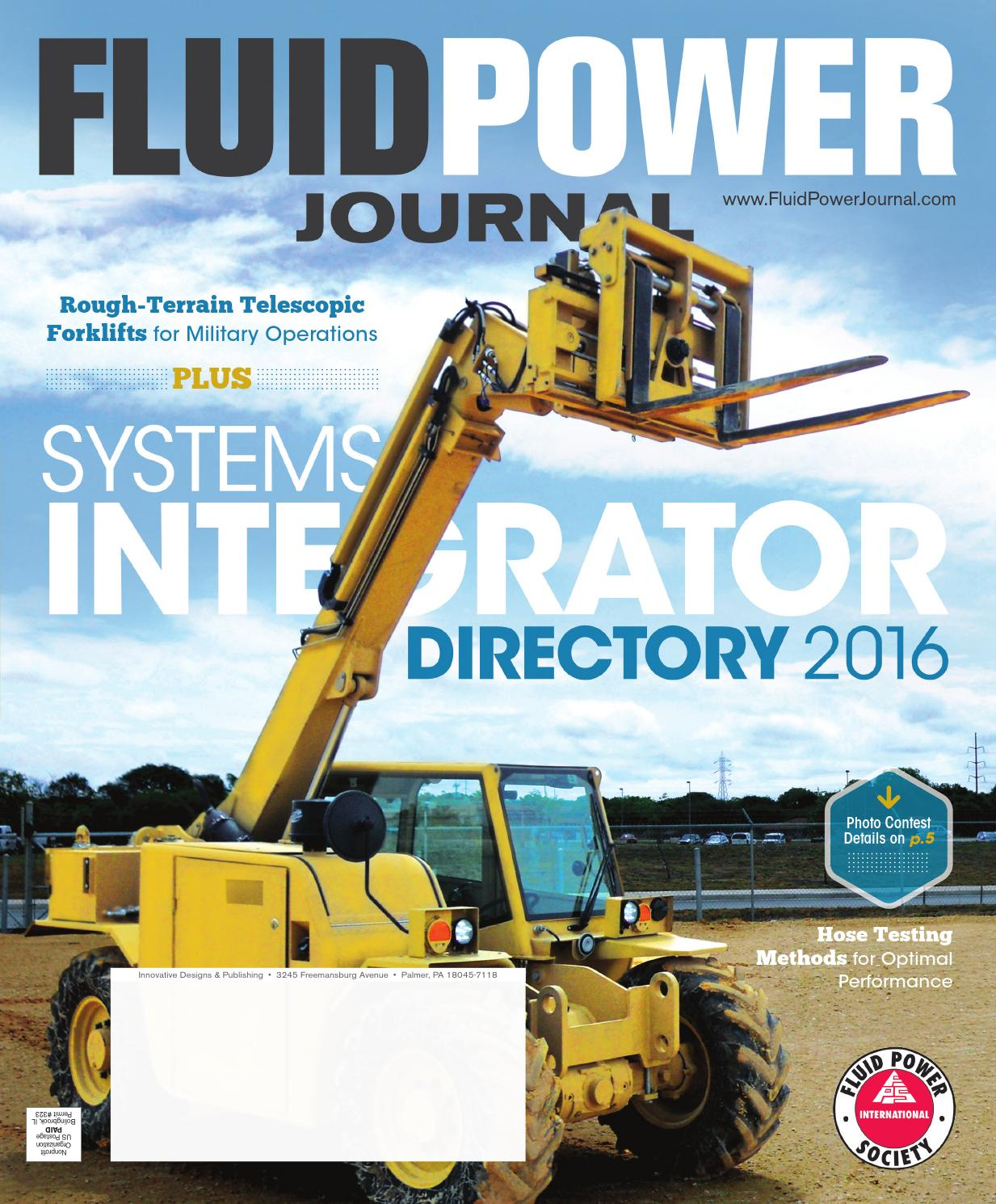 Fluid Power Journal Systems Integrator Directory 2016 by