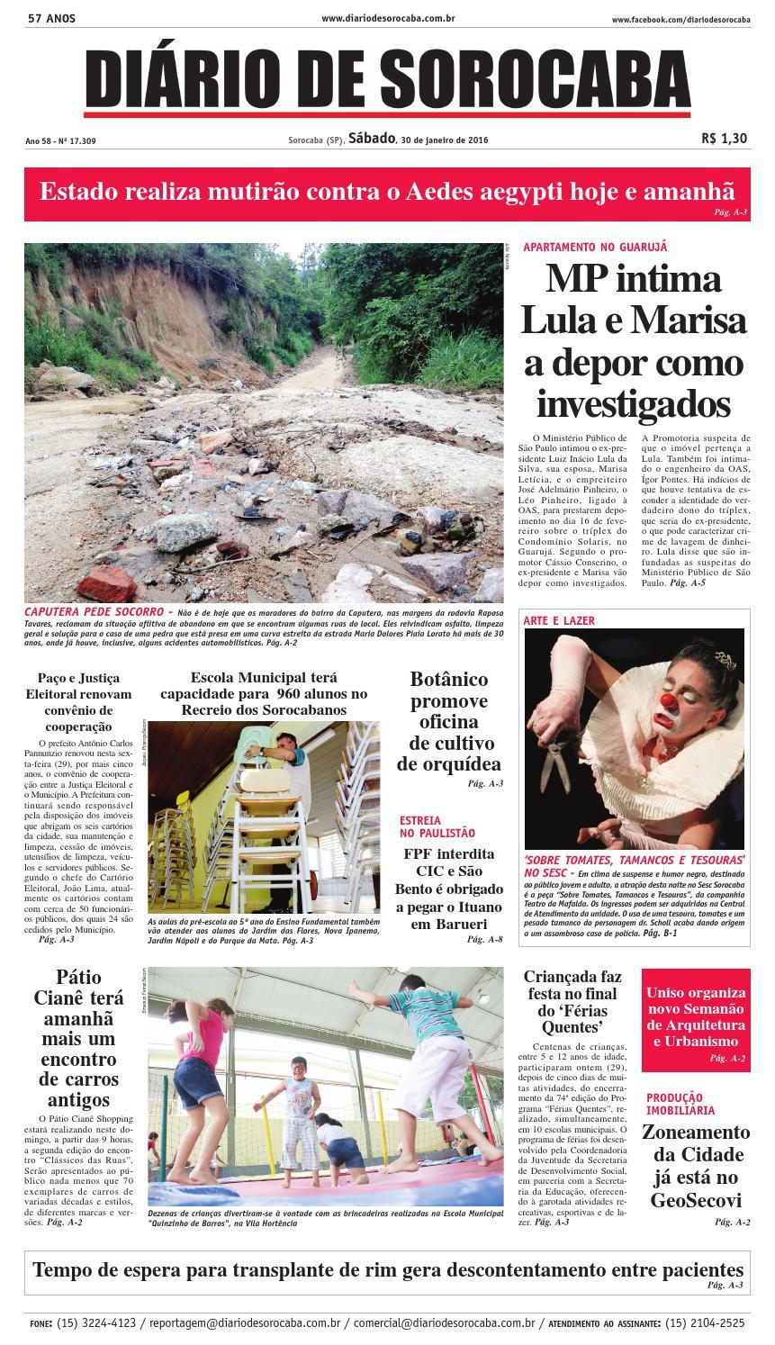 Edição de 30 de janeiro de 2016 by DIÁRIO DE SOROCABA - issuu 823472f843973