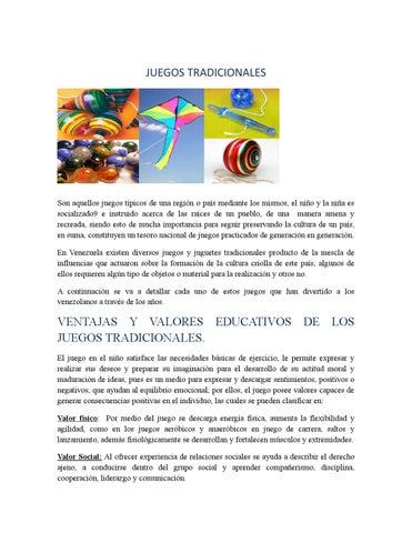 Juegos Tradicionales By Alexmaldonado02 Issuu