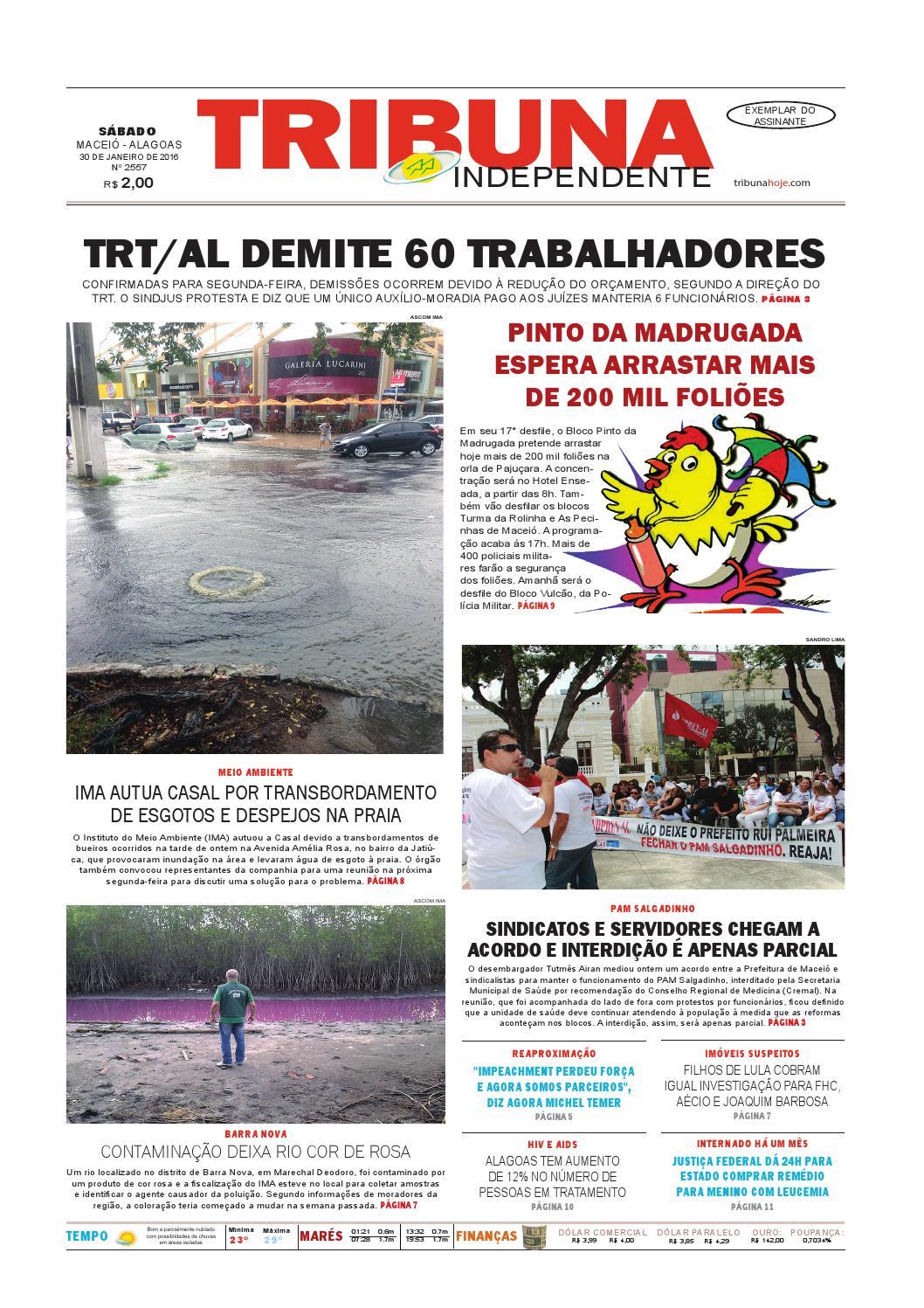 42490ec4f0 Edição número 2557 - 30 de janeiro de 2016 by Tribuna Hoje - issuu