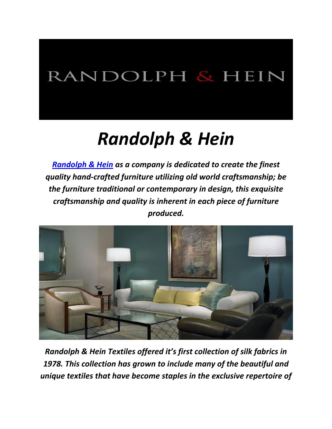 Superb Randolph U0026 Hein : Designer Furniture In Los Angeles By Randolph U0026 Hein    Issuu
