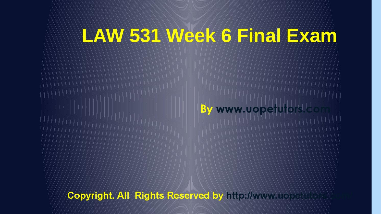 business regulation law 531 .