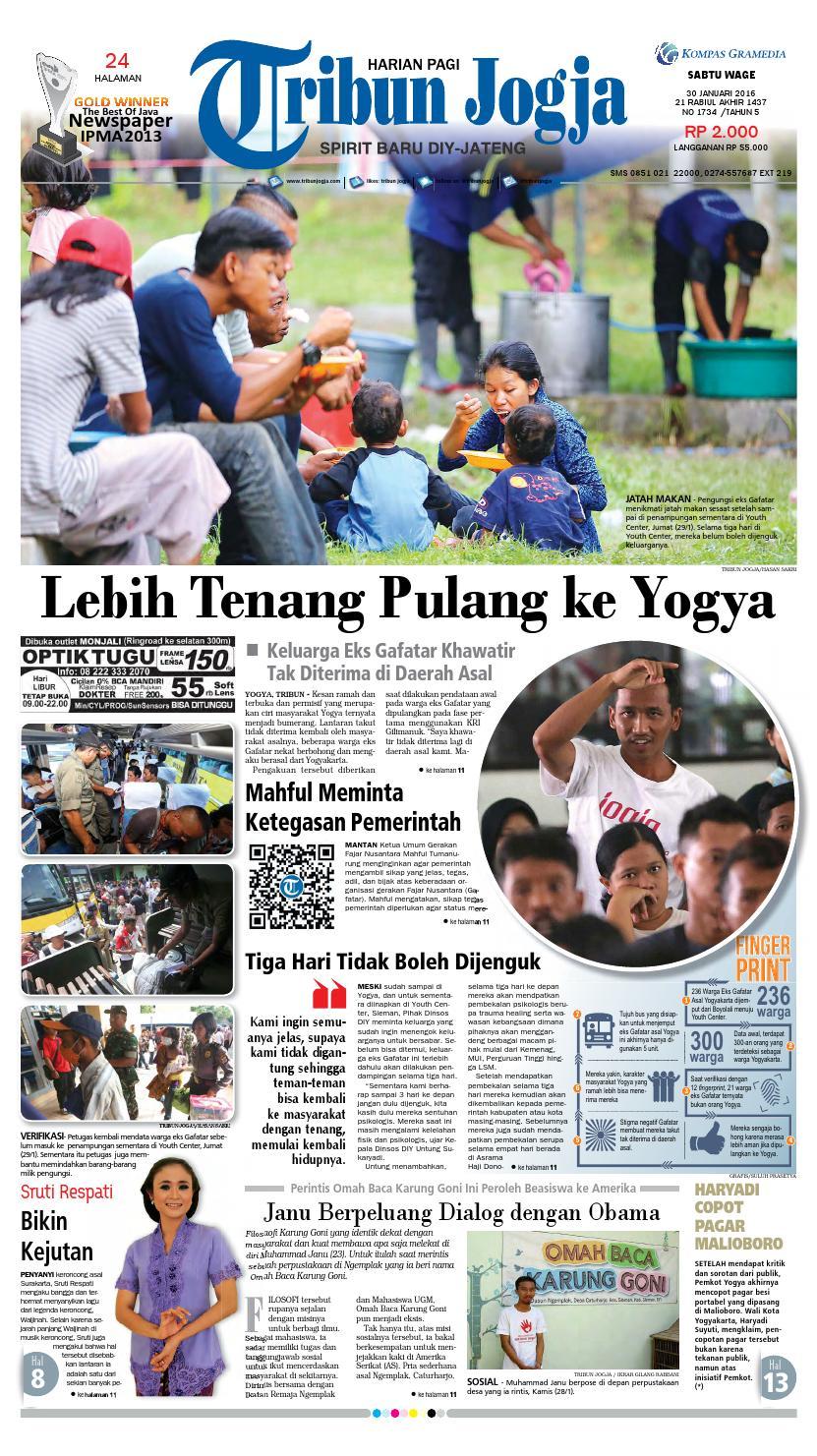 Tribunjogja 30 01 2016 By Tribun Jogja Issuu Produk Ukm Bumn Dompet Double Bordir Rikaamp039s