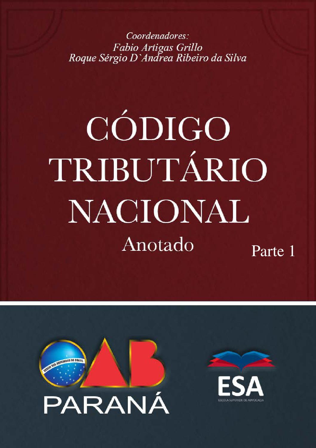 C U00f3digo Tribut U00e1rio Nacional Anotado Parte 1 By Sidnei De