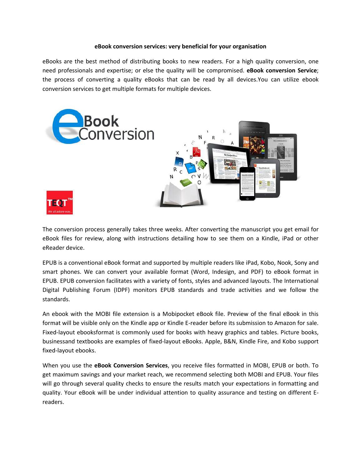 Best ebook conversion service In Noida by Teqt India - issuu