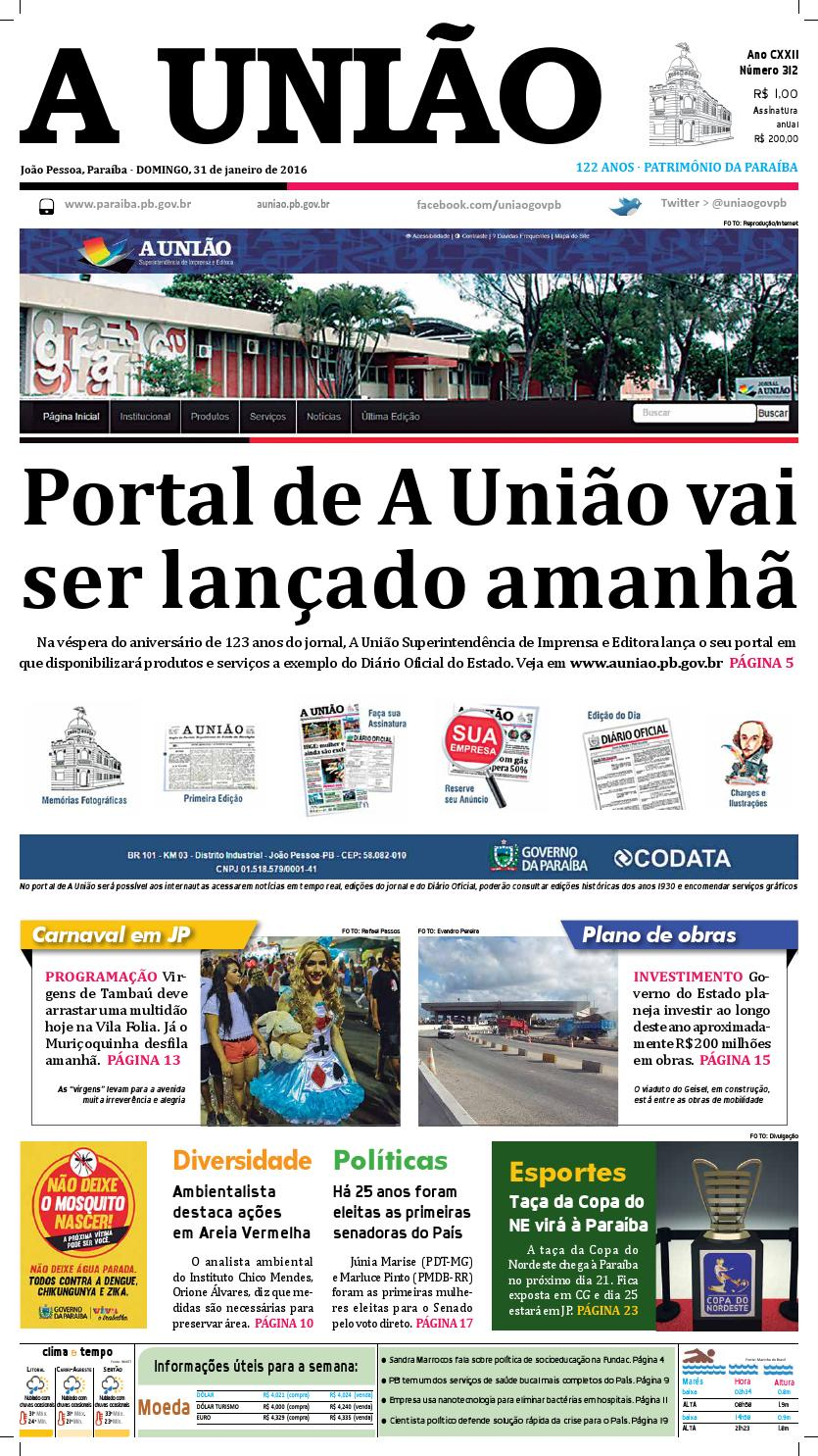 Jornal A União 31 01 16 by Jornal A União - issuu 2f7d12c1bf8c1