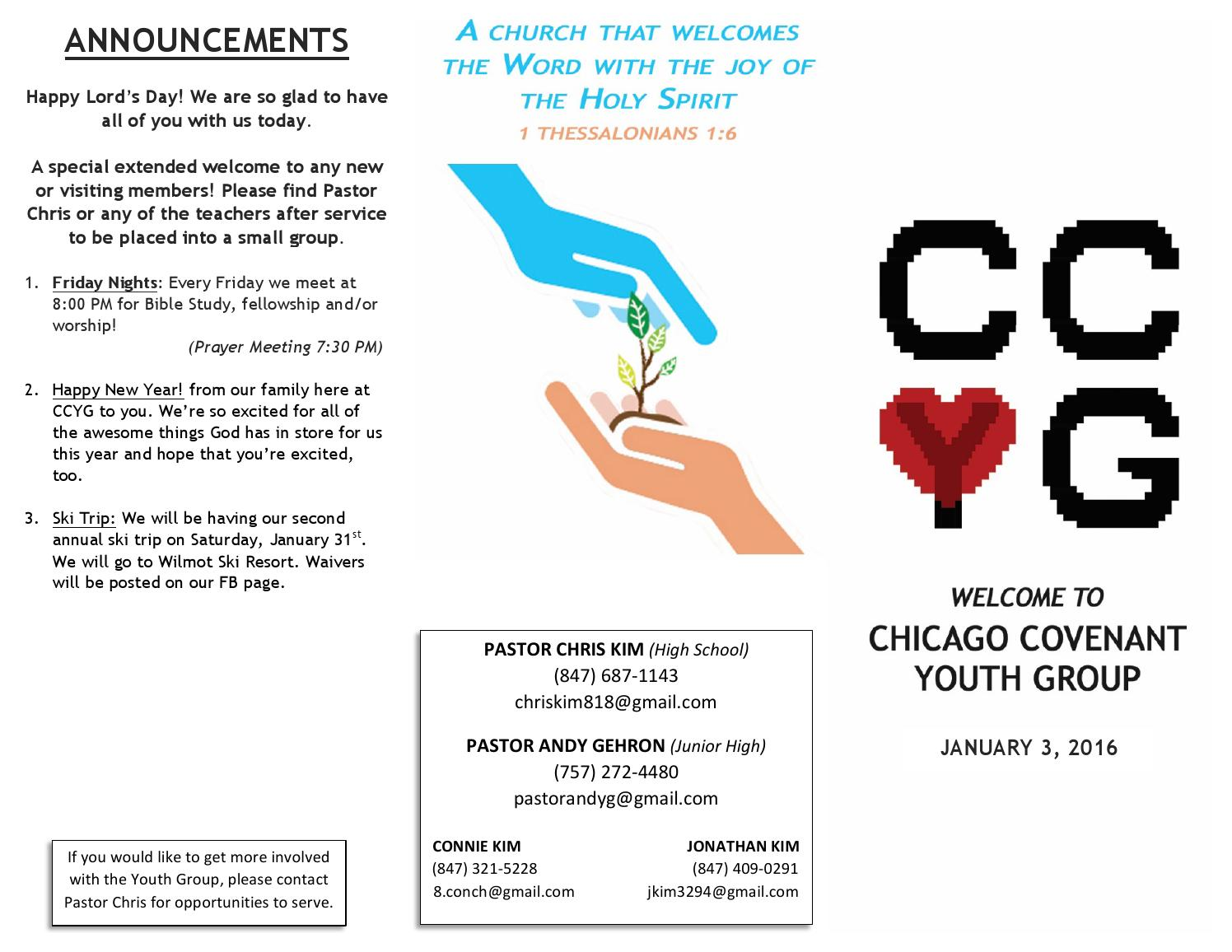 Ccyg 2016 01 03 by chicago covenant Church - issuu