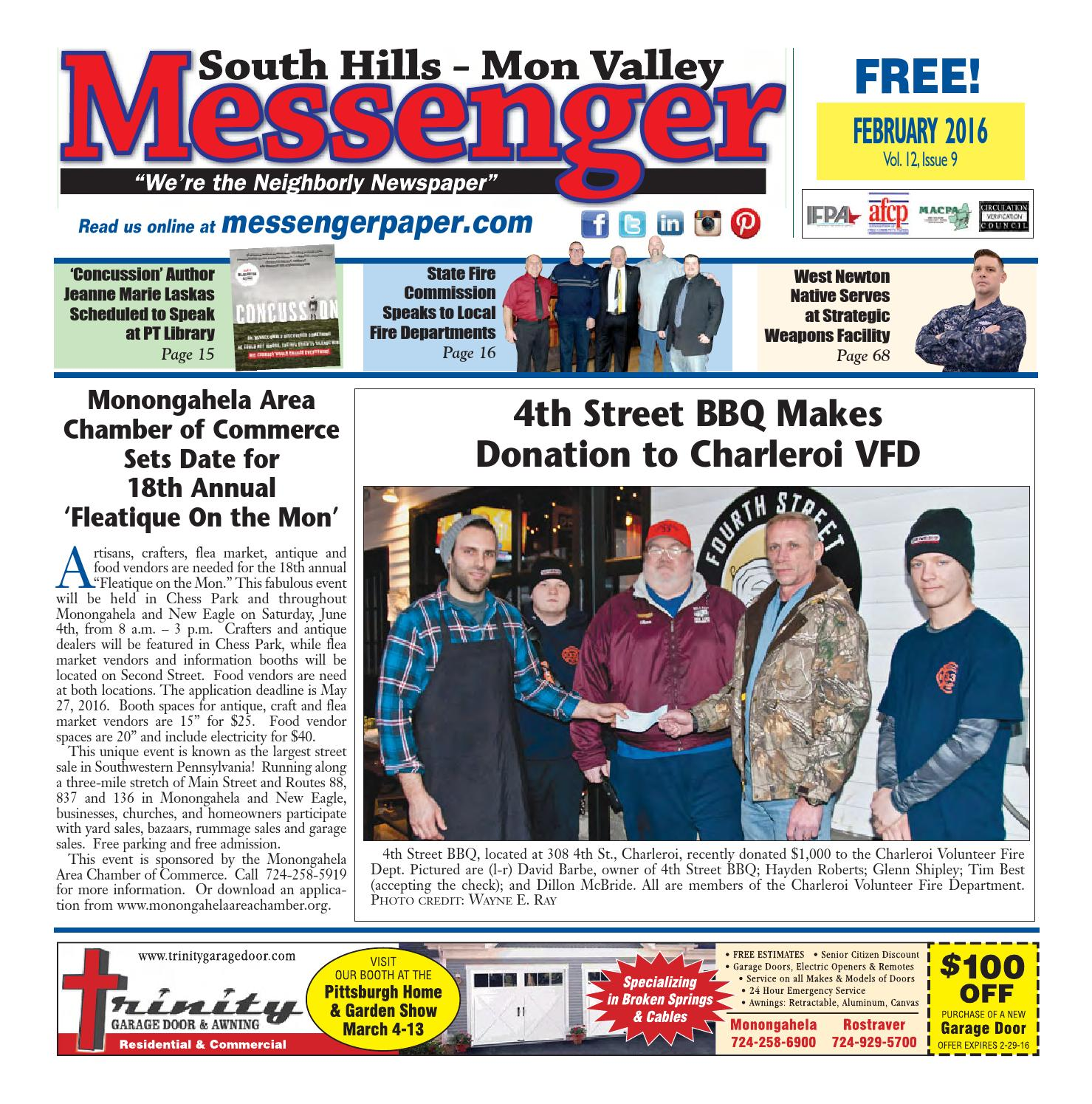South Hills Mon Valley Messenger February 2016 By South Hills Mon