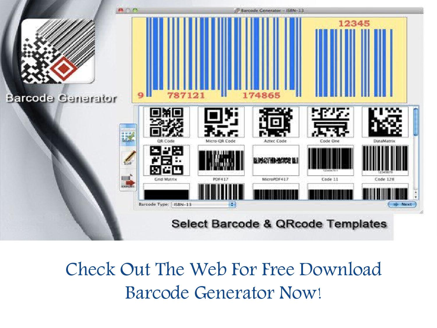 Check Out The Web For Free Download Barcode Generator Now