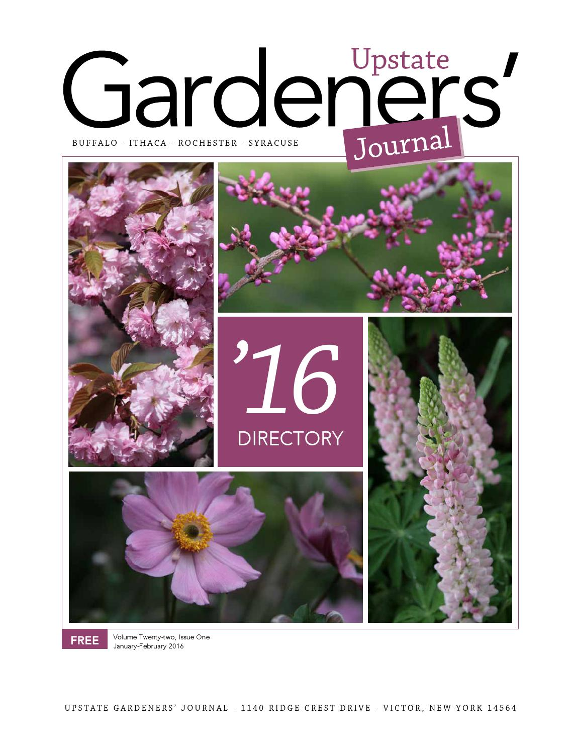 Directory Layout 2016 By Upstate Gardeners Journal