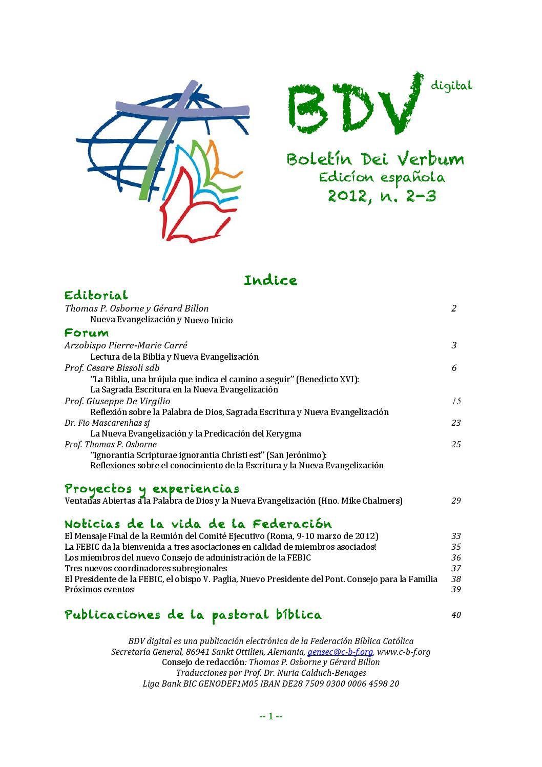 BDVdigital_2012_2-3(91-92)_ES by Catholic Biblical Federation - issuu