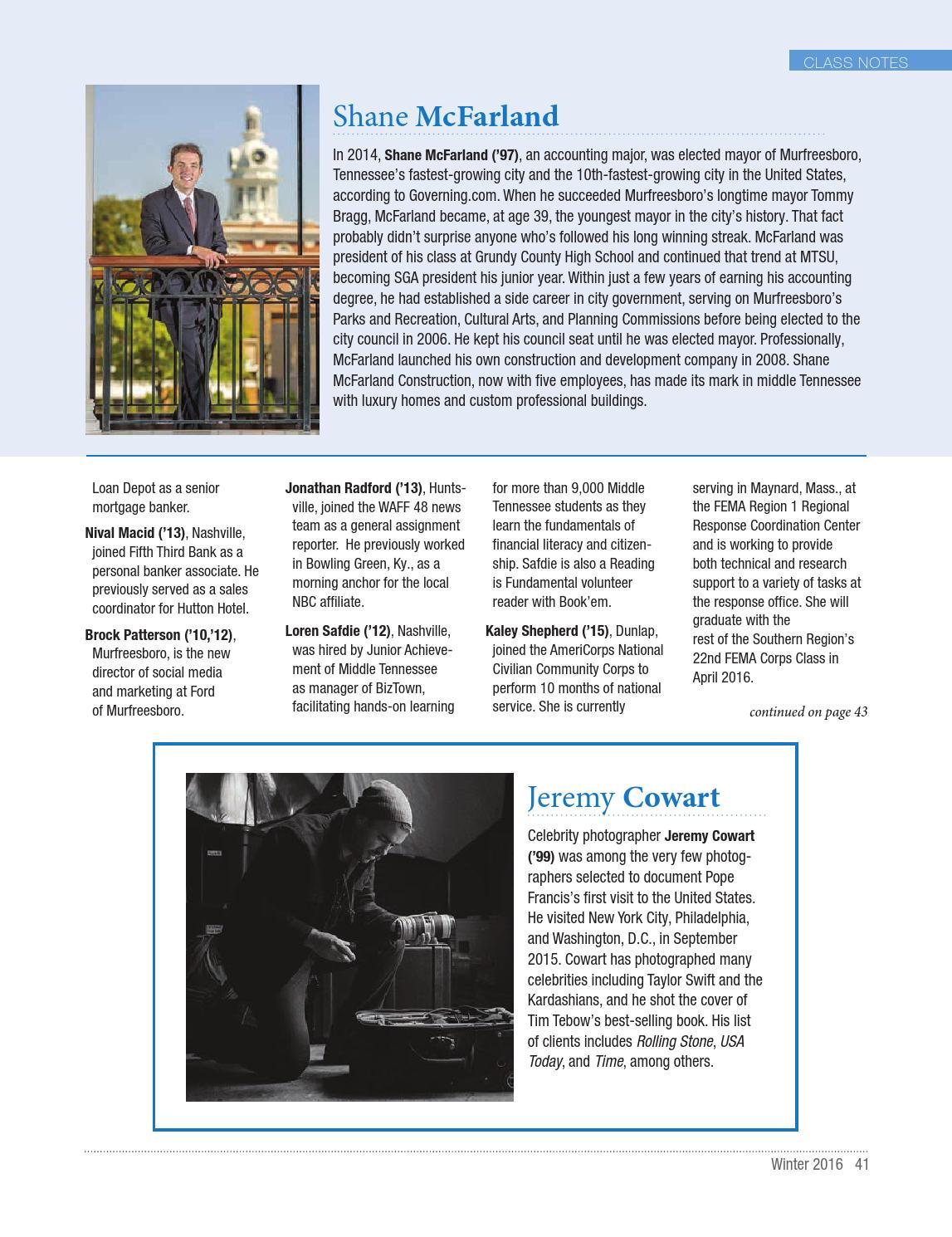 MTSU Magazine 2016