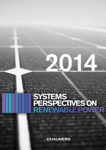 364e79d43e8b57 Systems Perspectives on Renewable Power 2014 by Chalmers Energy Area ...