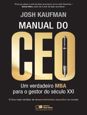800da513b Manual do ceo josh kaufman by Rafael Estevao - issuu