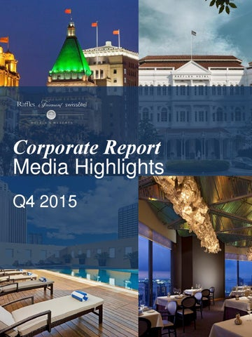 Q4 2015 Media Highlights By FRHI PR   Issuu