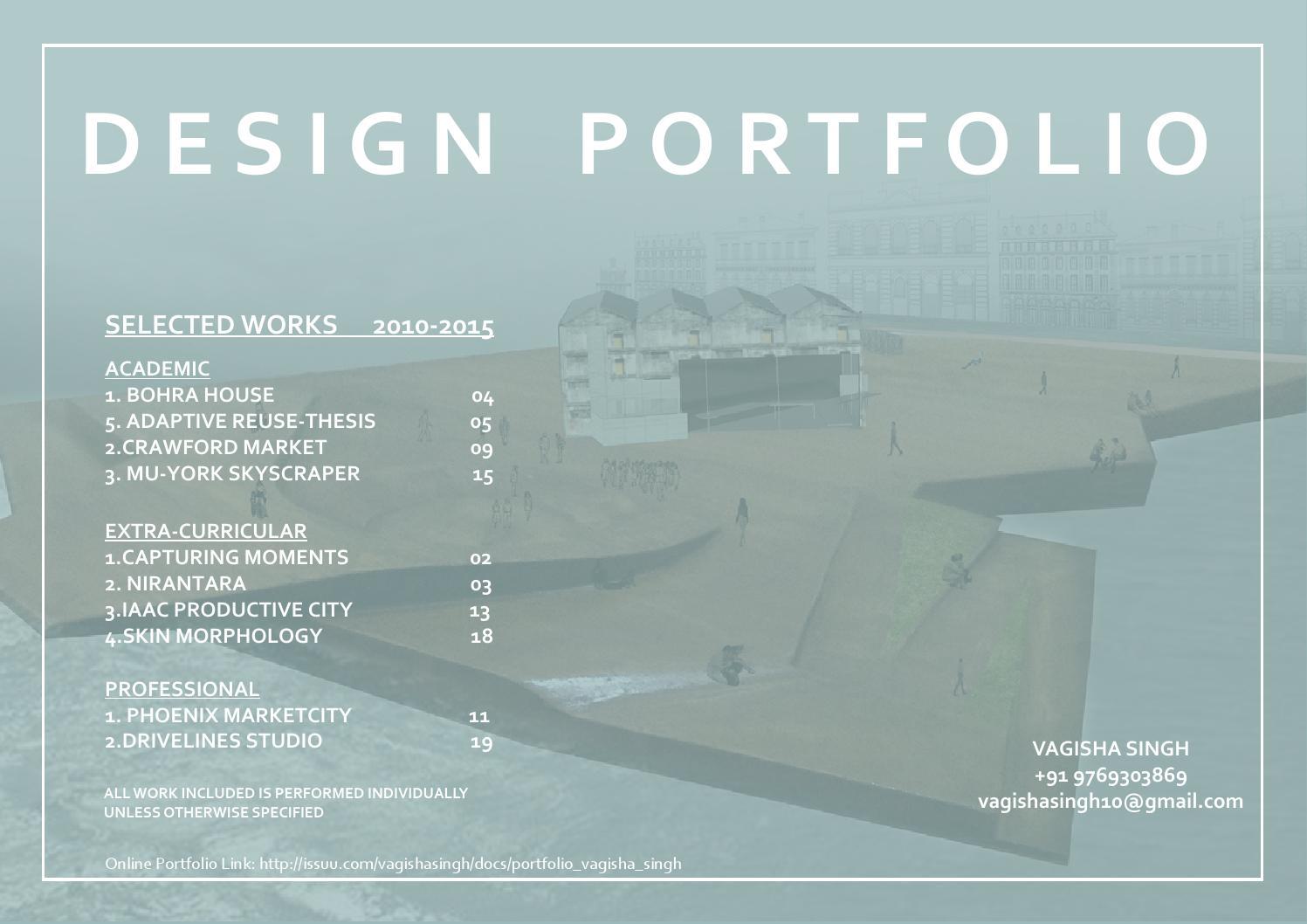 V S portfolio by Vagisha Singh - issuu