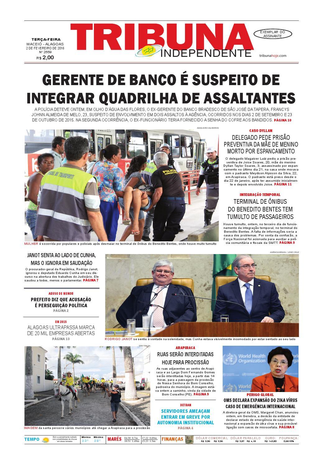 9507ed5f2 Edição número 2559 - 2 de fevereiro de 2016 by Tribuna Hoje - issuu