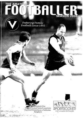 9214f2432 The Amateur Footballer, Week 7, 2006 by Andrew Leonard - issuu