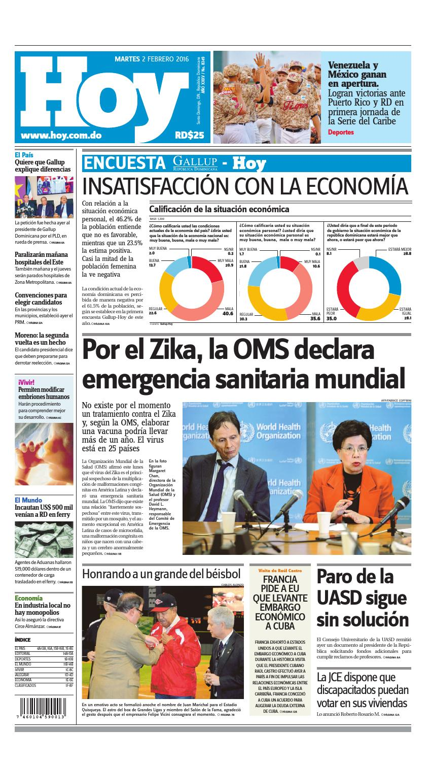 size 40 359ce b46a4 Periódico 02 de febrero, 2016 by Periodico Hoy - issuu
