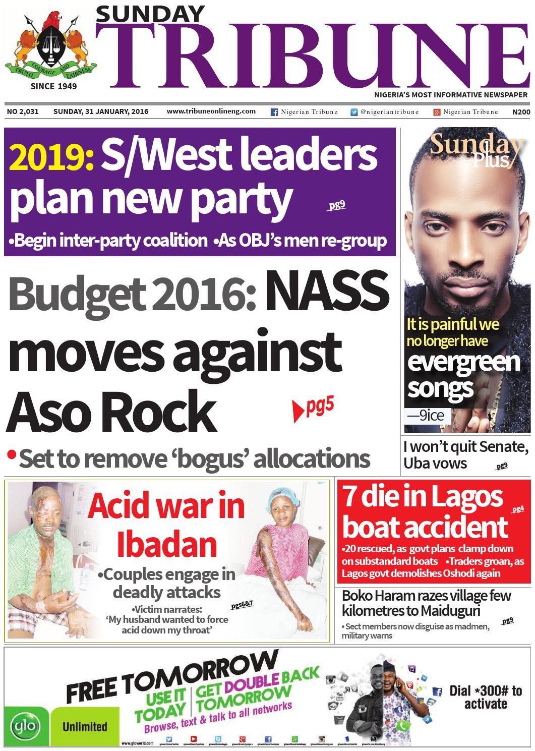 31st January 2016 by Nigerian Tribune - issuu