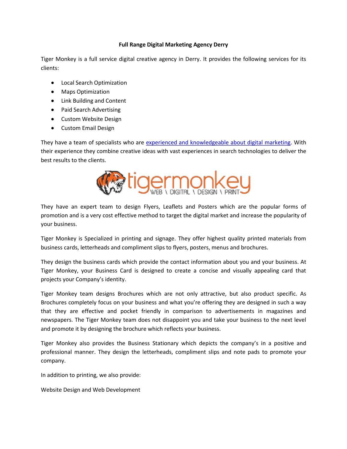Full range digital marketing agency derry by stevenlewis1 issuu colourmoves