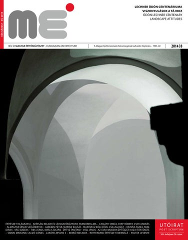 Hungarian Architecture 2014 8 by Hungarian Architecture - issuu 56764323ae
