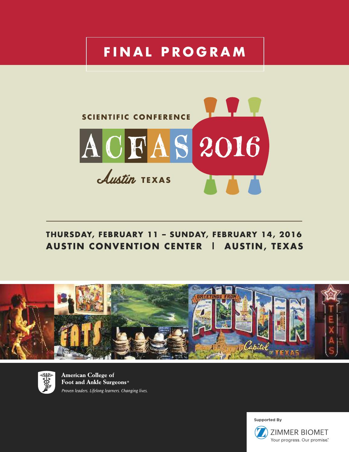 2016 acfas annual scientific conference program by acfas issuu fandeluxe Images