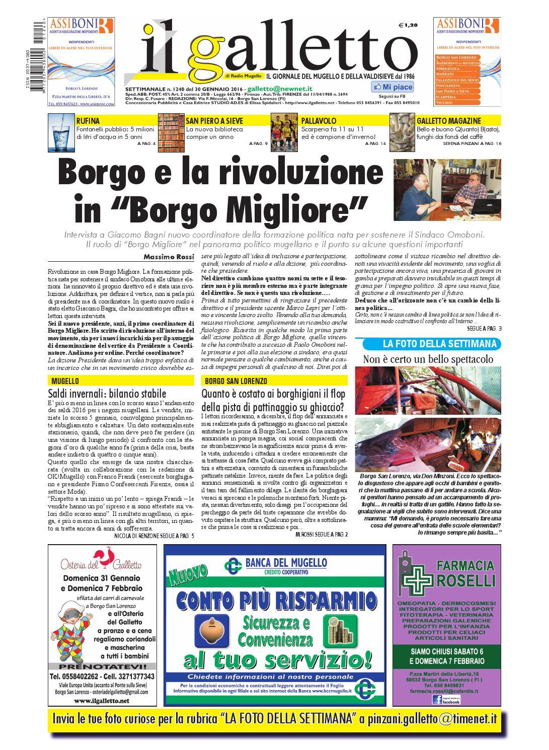 Galletto 1240 Del 30 Gennaio 2016 By Il Galletto Giornale Issuu