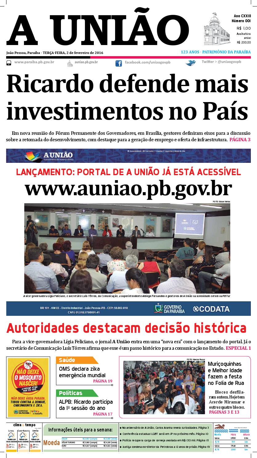 31eff2b05c4 Jornal A União 02 02 16 by Jornal A União - issuu