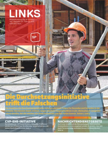 Links 160 by Sozialdemokratische Partei der Schweiz - issuu