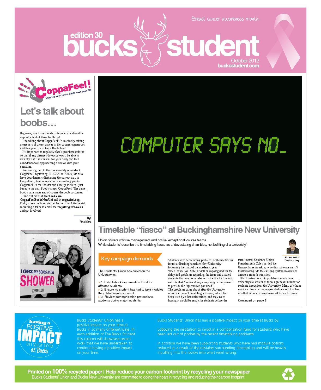 The bucks student edition 30 by the bucks student issuu fandeluxe Images