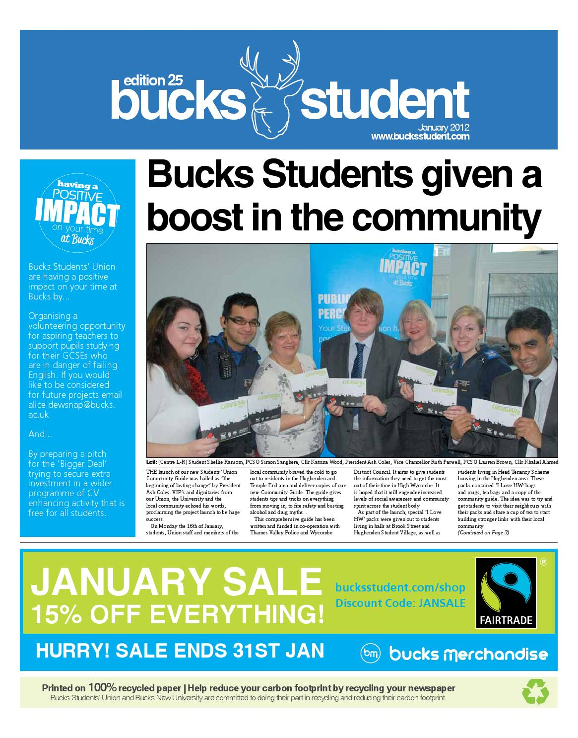 The bucks student edition 25 by the bucks student issuu fandeluxe Choice Image